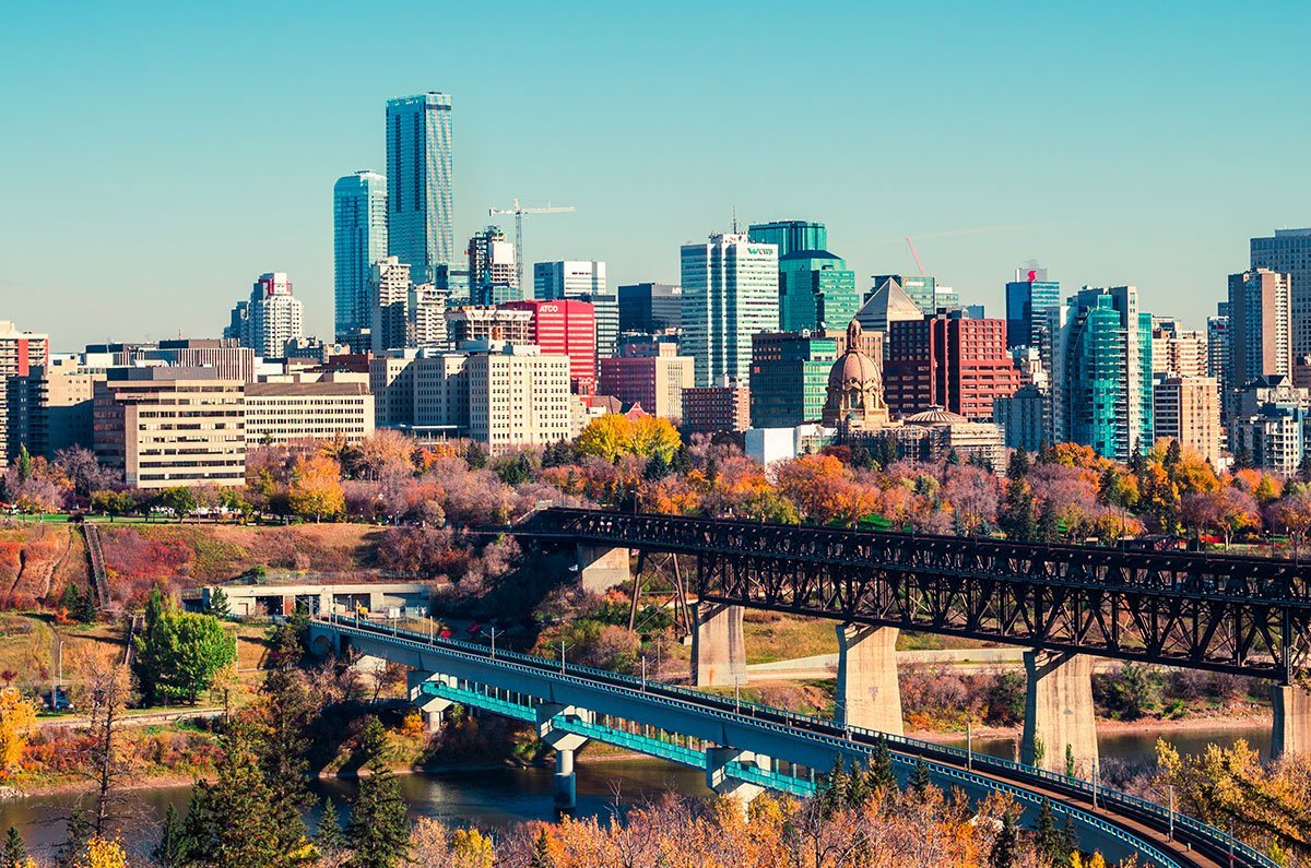 View of City of Edmonton from the Owners Forum Meeting in October 2019